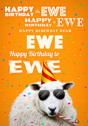 Cool Birthday Ewe Birthday Card