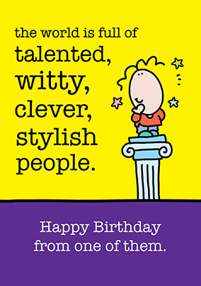 Talented People Birthday Card