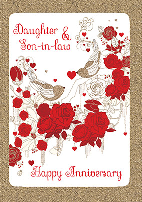 Daughter and Son-In-Law Happy Anniversary Card