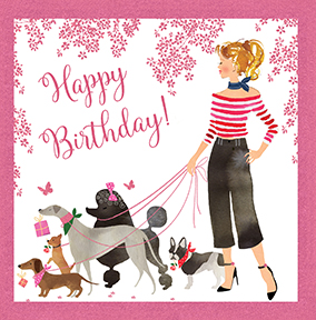 Animal birthday cards funky pigeon dog walker birthday card bookmarktalkfo Gallery
