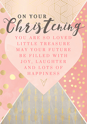 On Your Christening Girl Card