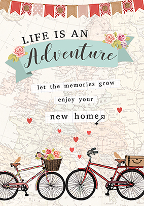 Life Is An Adventure New Home Card