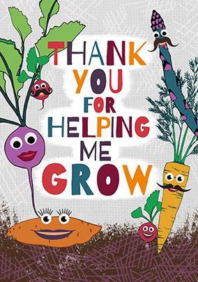 Thank you for helping me grow teacher card funky pigeon thank you for helping me grow teacher card voltagebd Choice Image
