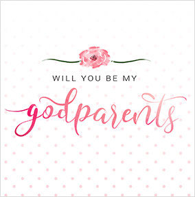 Will you be my godparent cards funky pigeon will you be my godparents pink card yes preview image is not found m4hsunfo