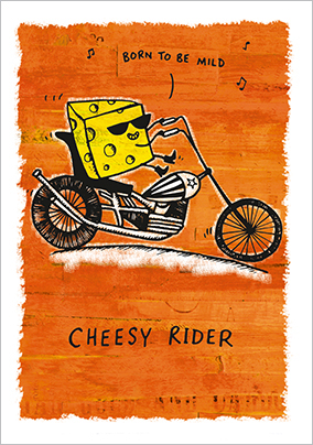 Grintastic Birthday Card - Cheesy Rider