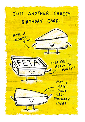 Grintastic Birthday Card - Cheesy Card