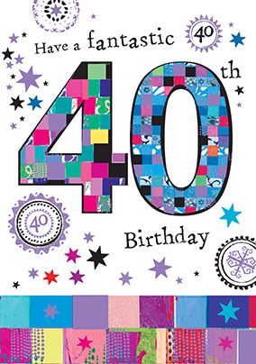 40th birthday cards buy send funky pigeon fantastic 40th birthday card bookmarktalkfo Choice Image