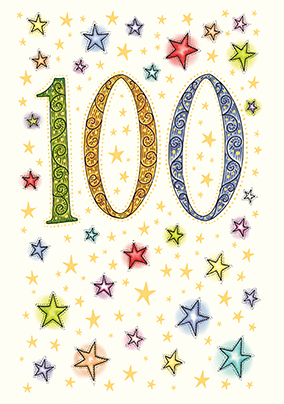 Unique 100th birthday cards funky pigeon 100th birthday card neapolitan bookmarktalkfo Images