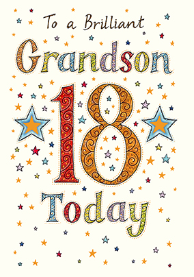 Grandson birthday cards funky pigeon brilliant grandson 18th birthday card neapolitan bookmarktalkfo Gallery