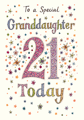 21st Birthday Cards For Granddaughter