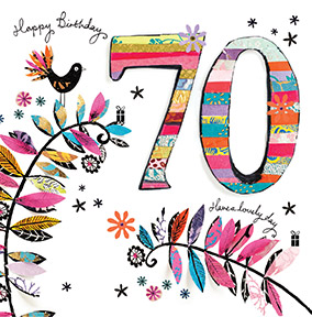 70th birthday cards personalised unique funky pigeon 70 happy birthday card artisan bookmarktalkfo Image collections