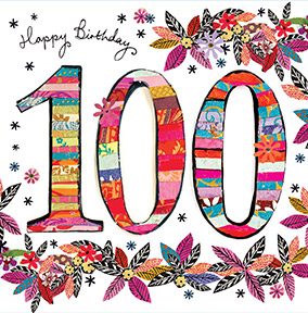 Unique 100th birthday cards funky pigeon 100th birthday card artisan bookmarktalkfo Images
