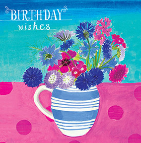 Birthday Wishes Spring Flowers Birthday Card