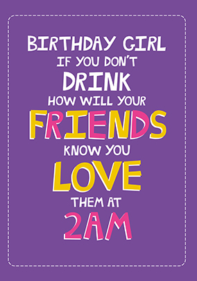 Drink Now Birthday Card