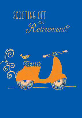 Scooting off Retirement Congratulations Card