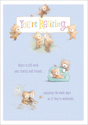 Teddy Bear Retirement Congratulations Card