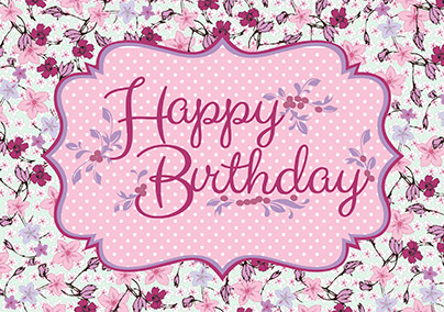 Floral Spice Birthday Card