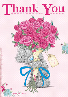 Me to You Tatty Teddy and Flowers Thank You Card