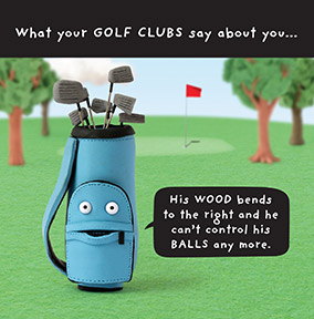 Golf Birthday Cards | Funky Pigeon