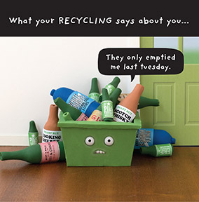 What your Recycling says Greeting Card