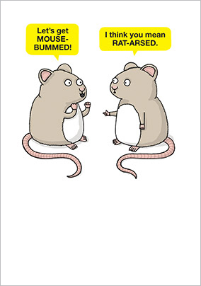 Mouse-bummed Birthday Card
