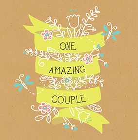 One Amazing Couple Wedding Card
