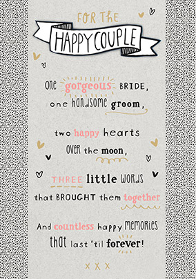 For the Happy Couple Wedding Card