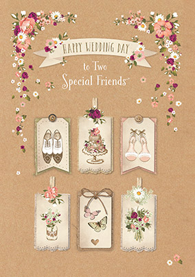 Two Special Friends Wedding Card