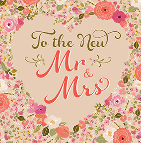 The New Mr & Mrs Wedding Card