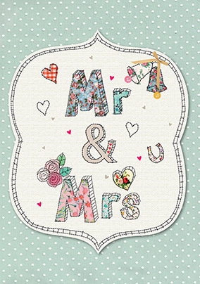Sew Sweet Mr & Mrs Wedding Card