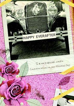 Wedding Day Congratulations Card - Happy Ever After