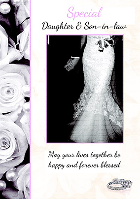 Special Daughter & Son-in-Law Wedding Card