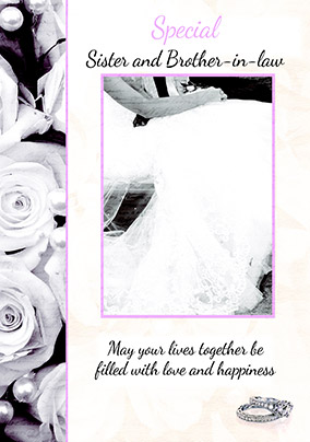 Special Sister & Brother-in-Law Wedding Card