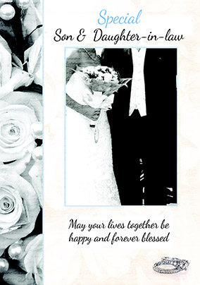 Special Son & Daughter-in-Law Wedding Card