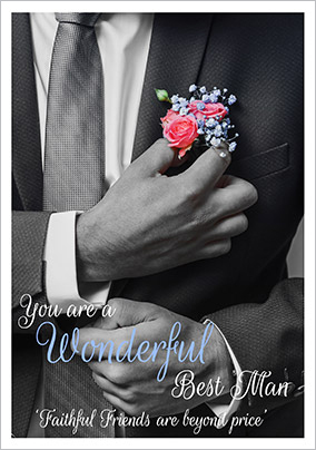 Photographic Best Man Thank You Card