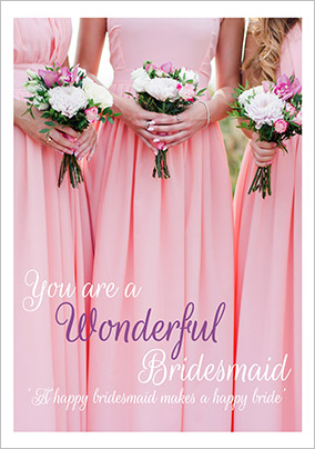 Photographic Bridesmaid Thank You Card