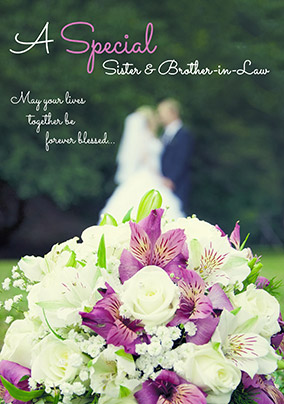 Photographic Brother & Sister-in-Law Wedding Card