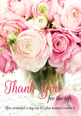 Wedding Bouquet Thank You Card