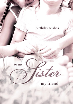 Wishes Kisses Birthday Card Sister Funky Pigeon