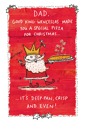dad good king wenceslas christmas card funky pigeon