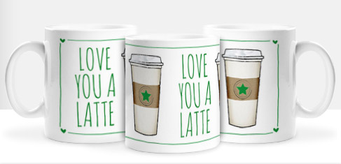 Non Personalised Mug - Love You A Latte