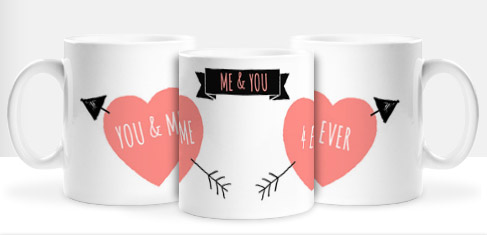 Non Personalised Mug - Bows & Arrows Me & You £ 7.99