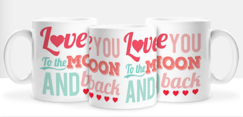 Non Personalised Mug - Love You To The Moon And Back