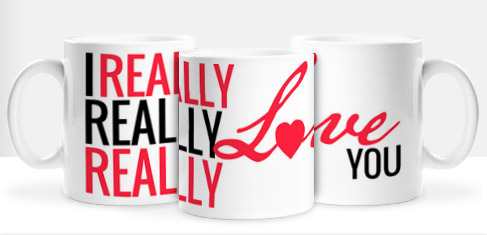Non Personalised Mug - Really Really Really Love You