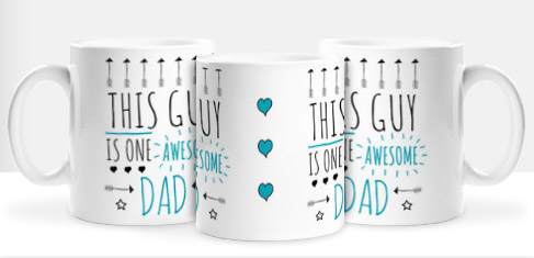 Non Personalised Mug - One Awesome Dad