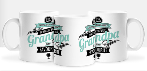 Non Personalised Mug - Grandpa is my Favourite