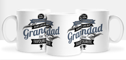 Non Personalised Mug - Grandad is my Favourite