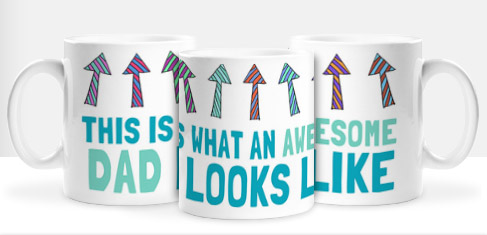 Non Personalised Mug - Awesome Dad £ 7.99