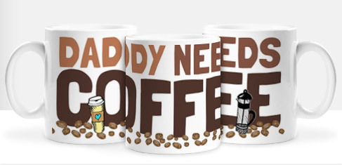 Non Personalised Mug - Daddy needs Coffee