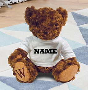 Any Name Personalised Teddy Bear - William